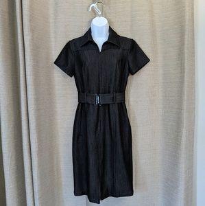 Calvin Klein - Denim Short Sleeve Dress - Size 4